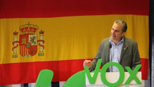 El secretario general de Vox, Javier Ortega Smith, en un acto en Cuenca.