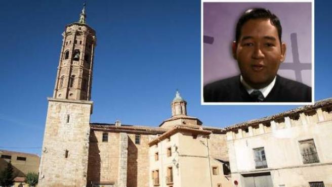 Luis Fernando Nieto, párroco de la iglesia de la Asunción de Nuestra Señora de Báguena.