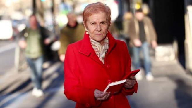 Paca Tricio, presidenta de la Unión Democrática de Pensionistas y autora del libro 'La rebelión de los mayores'.