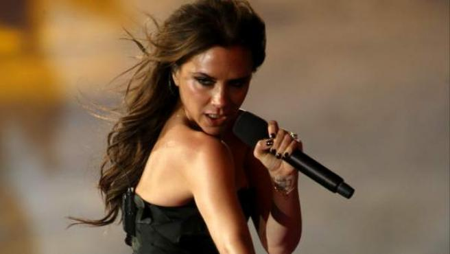 Victoria Beckham, exintegrante de las Spice Girls, durante la clausura de los Juegos Olímpicos de Londres en 2012.