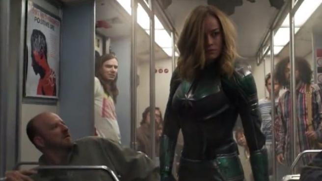Fotograma del nuevo tráiler de 'Capitana Marvel'.
