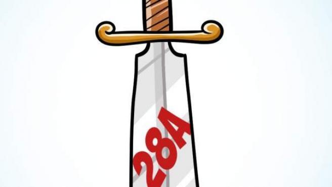 'La espada de Damocles', viñeta de Álvaro Terán.