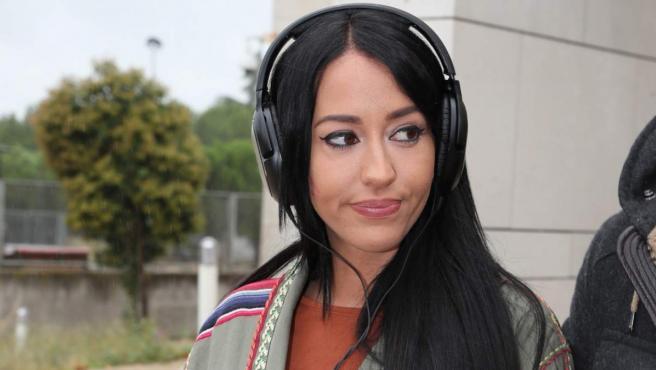 Aurah Ruiz, durante su visita a los juzgados mientras concursaba en Gran Hermano VIP, en 2018.