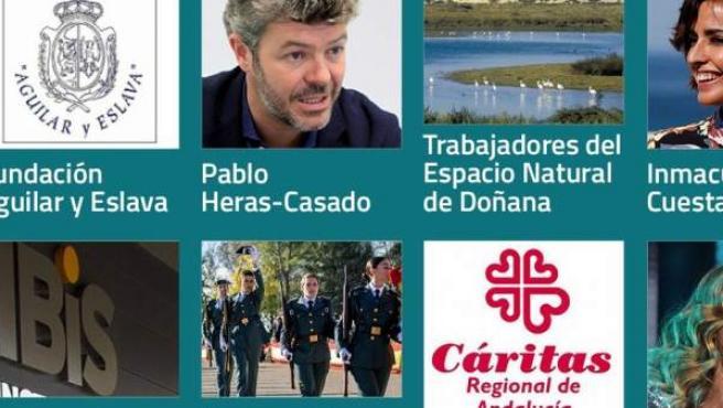 Todas las personalidades e instituciones que recibirán la Medalla de Andalucía y el título de Hijo Predilecto en 2019.