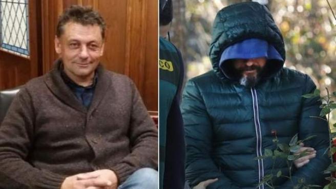 Javier Ardines (i) y Pedro Luis N. A., presunto inductor de su asesinato.