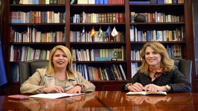 Ana Mestre y la alcaldesa de Jerez, Mamen Sánchez