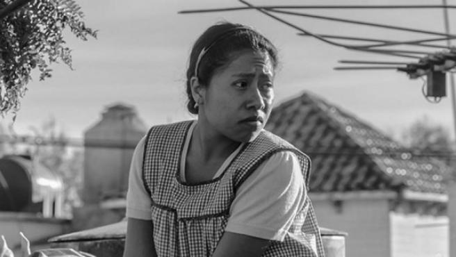 La actriz Yalitza Aparicio en la película 'Roma'.