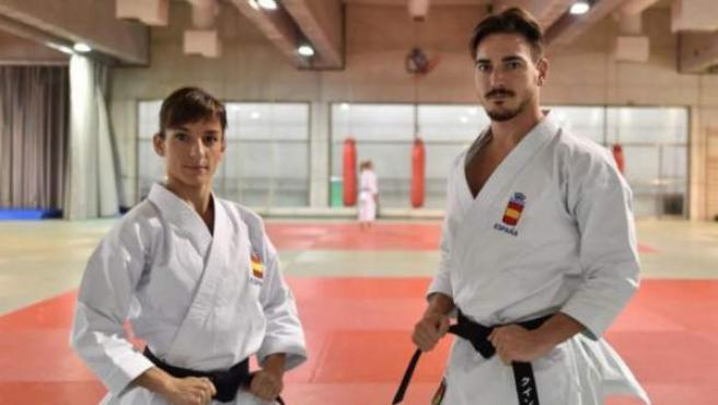 Damián Quintero y Sandra Sánchez se entrenan cada día en las instalaciones del Centro de Alto Rendimiento del Consejo Superior de Deportes.