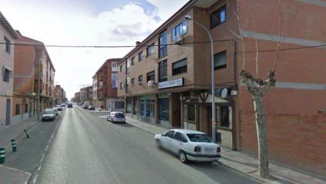 Imagen de la avenida San Crispín de Fuensalida, Toledo.