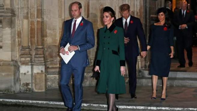 Los duques de Cambridge y Sussex, en una imagen de un acto celebrado en Londres.