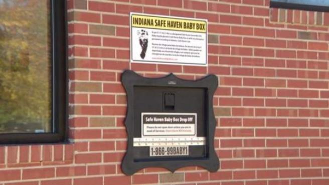 Uno de los buzones para depositar bebés en Indiana, lugar de Estados Unidos donde más existen.