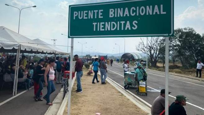 Puente fronterizo de Tienditas, en la localidad fronteriza de Ureña (Venezuela).
