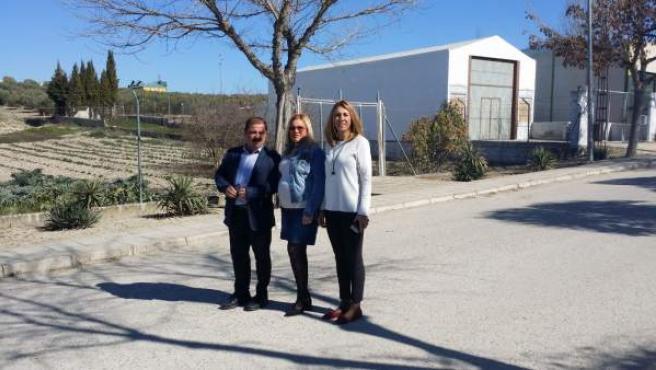 El diputado de Infraestructuras Municipales, José Castro, en Santiago de Calatra
