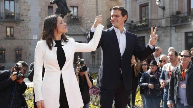 Inés Arrimadas y Albert Rivera, durante el acto de presentación de candidatura de la dirigente en Madrid de cara a las generales del 28-A.
