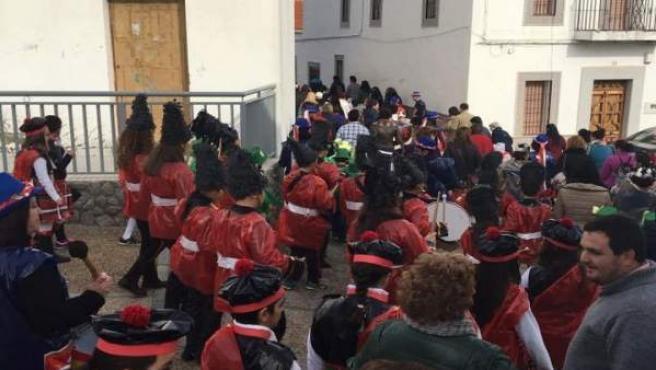Desfile escolar del Carnaval Zorrero en una edición anterior