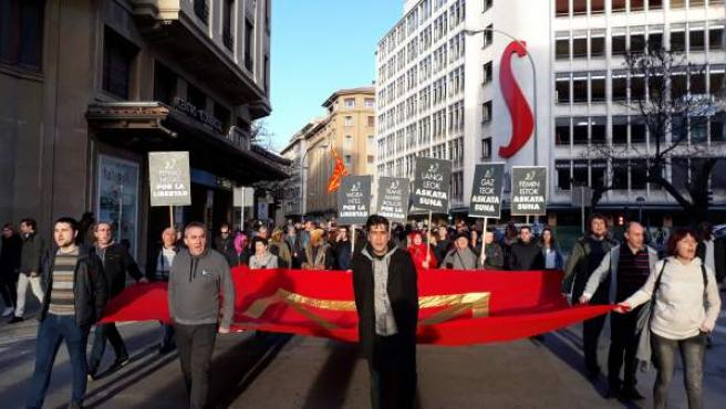 Una manifestación llama en Pamplona a 'enfrentar las ideas de la ultraderecha'