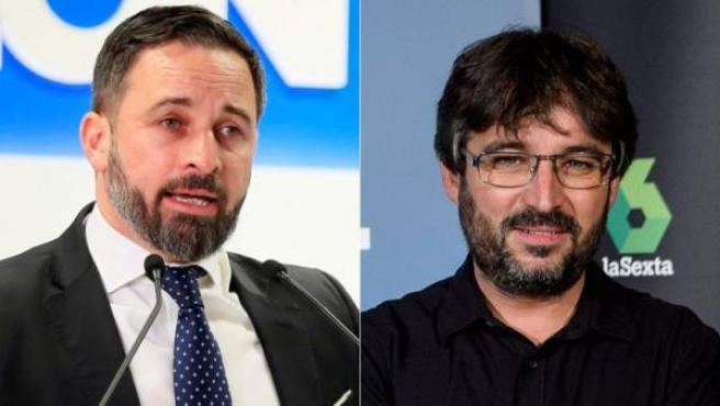 El líder de Vox, Santiago Abascal, y el periodista Jordi Évole.