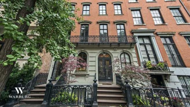 Aspecto de la fachada de la que fue la vivienda de Mary-Kate Olsen en Nueva York.