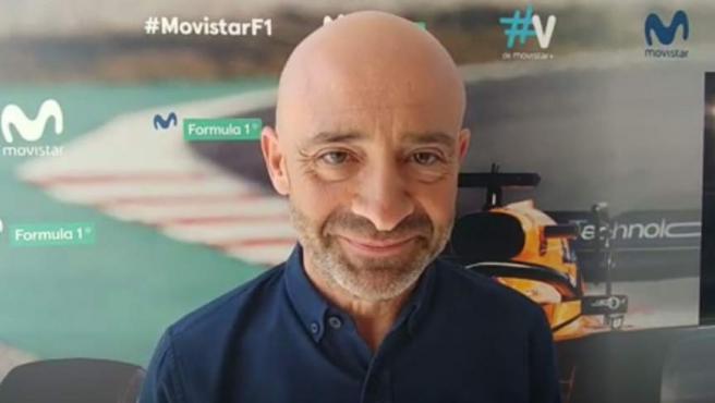 Antonio Lobato, narrador de Fórmula 1 en Movistar+.