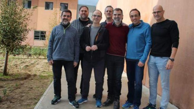 Los políticos catalanes independentistas presos.