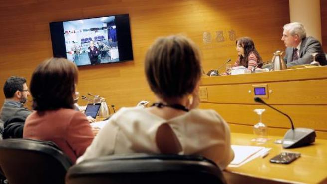 El exresponsable de Orange Market Álvaro Pérez, el Bigotes, durante su declaración por videoconferencia.