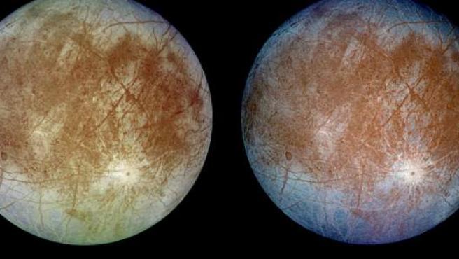 La luna Europa en una foto de la NASA.