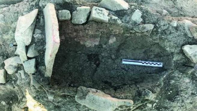 Sevilla.- La excavación de la muralla tardoantigua de Itálica revela el 'saqueo