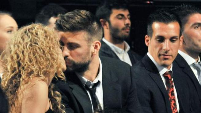 Shakira y Piqué en la entrega de premios al mejor jugador catalán.