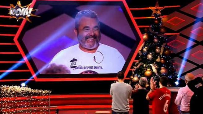 José Pinto en el vídeo que le dedicaron en '¡Boom!' como homenaje cuando se despidió del programa.