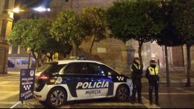 Agentes de la Policía Local de Murcia.