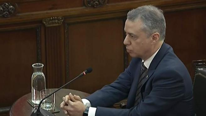 Íñigo Urkullu declara como testigo en el juicio por el 'procés'.