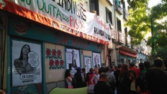 Desahucio en la calle Argumosa de Madrid.