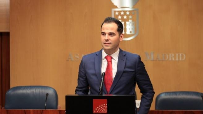 El portavoz de Ciudadanos en la Asamblea de Madrid, Ignacio Aguado.