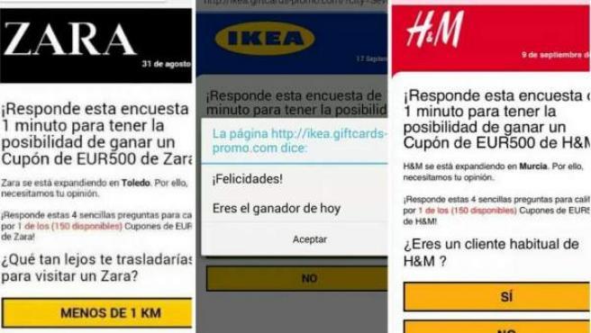 Un virus en Whatsapp que usa como gancho marcas como Ikea, Zara o H&M y promete descuentos en sus tiendas.