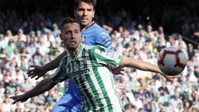 Sergio Canales, en el Real Betis - Getafe CF.