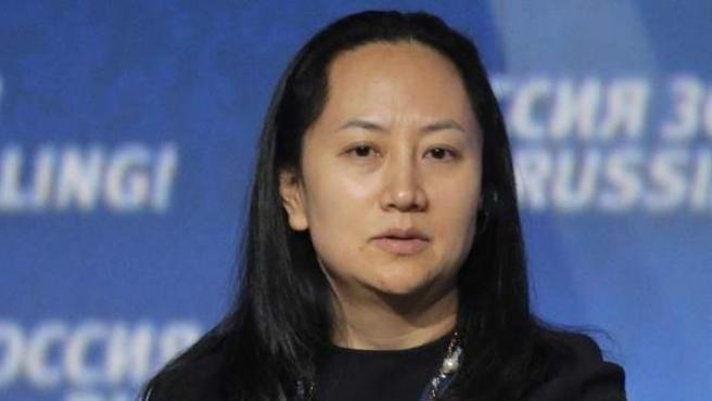 Meng Wanzhou, directora financiera de Huawei, en Moscú, en una imagen de archivo.