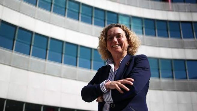 Clara Arpa, CEO de Arpa Equipos Móviles de Campaña, en el madrileño recinto ferial de Ifema.