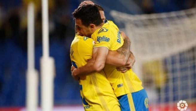 Celebración de un gol de la UD Las Palmas