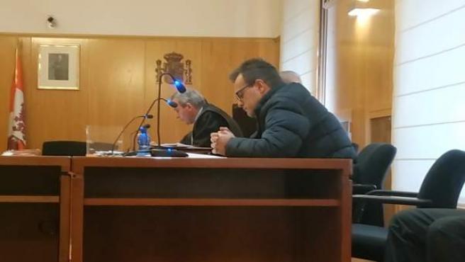 El 'Terre' durante el primer día del juicio en la Audiencia Provincial.