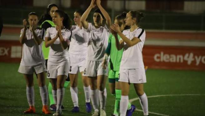 Jugadoras del Madrid CCF, club de fútbol femenino con la mayor cantera de España
