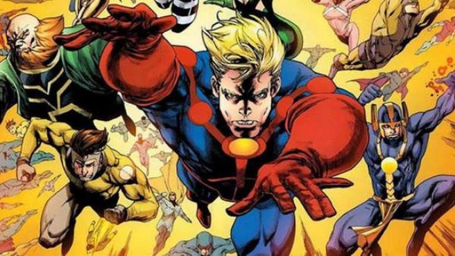Los Eternos en uno de los cómics de Marvel.