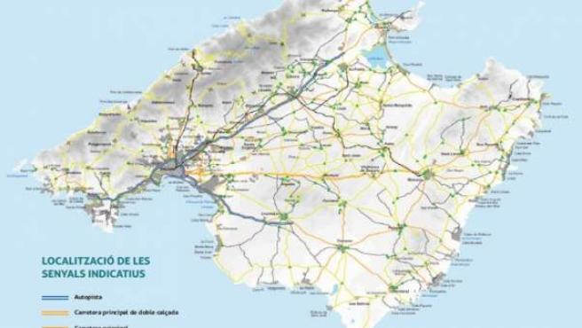 Las vías ciclistas de Mallorca tendrán 355 señales indicativas más financiadas p