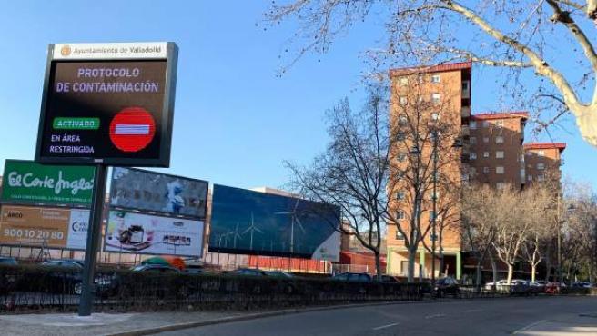Corte del Tráfico en el centro de Valladolid