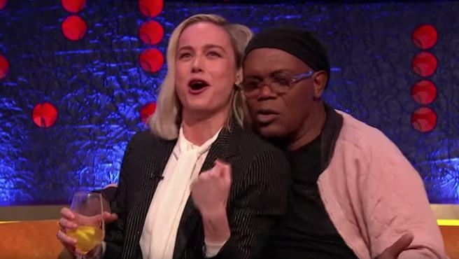 Karaoke Marvel: Brie Larson y Samuel L. Jackson cantan 'Shallow'