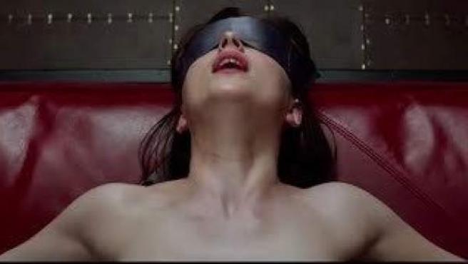 Escena de la película '50 sombras de Grey'.