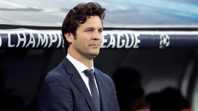 Santiago Solari, en su etapa como entrenador del Real Madrid.