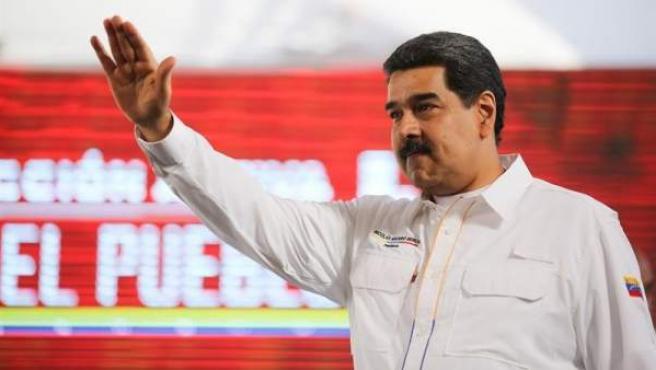 Nicolás Maduro, durante un acto de gobierno en un complejo agroindustrial en San Francisco de Yare (Venezuela).