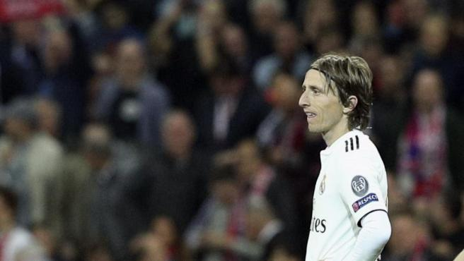 Luka Modric, durante un partido del Real Madrid.