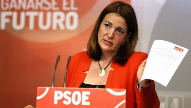 La portavoz del PSOE en el Congreso, Soraya Rodríguez.