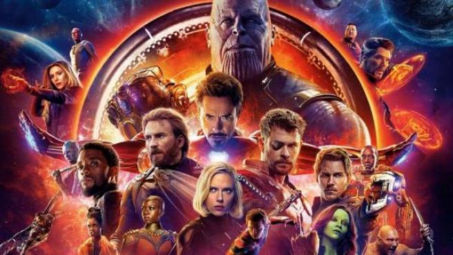 Detalle de uno de los posters de 'Vengadores: Infinity War'